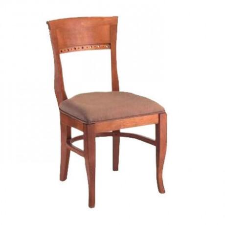 Açık Eskitme Bej Kumaş Döşemeli Klasik Sandalye - ksa38b