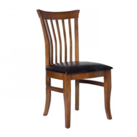 Açık Eskitme Siyah Döşemeli Restoran Sandalyesi - ksa24