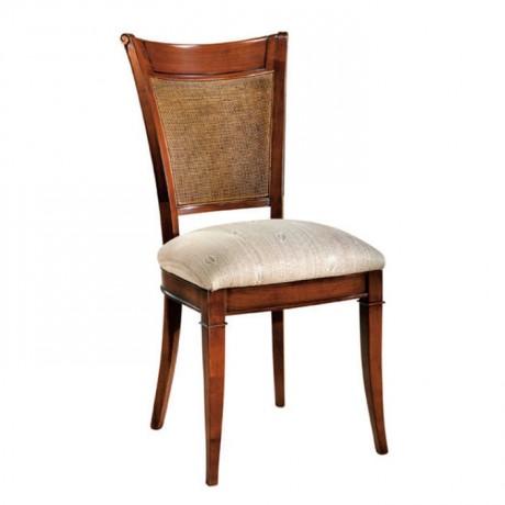 Açık Eskitme Şönil Kumaş Döşemeli Klasik Sandalye - ksa66