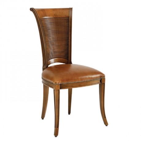 Açık Eskitme Taba Derili Hasırlı Klasik Sandalye - ksa98