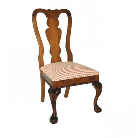 Aslan Ayak Oymalı Klasik Sandalye - ksa90