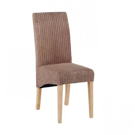 Bej Kumaşlı Natural Ayaklı Sandalye Giydirme - msag128