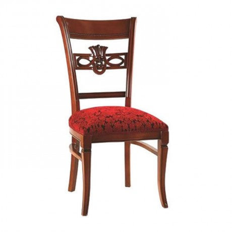 Classic Hotel Chair with Walnut Painted Bordeaux Pattern - ksa50