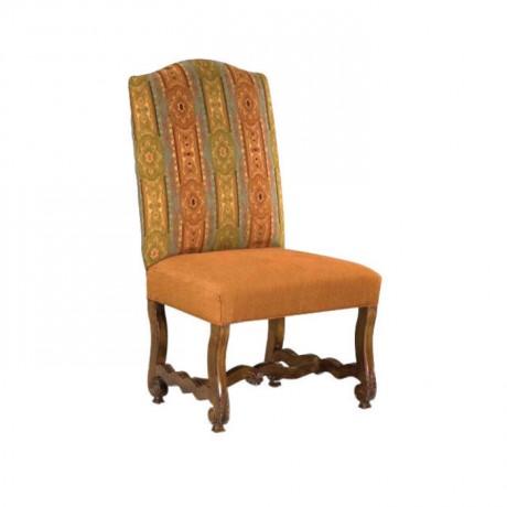 Desenli Kadife Kumaşlı Klasik Salon Sandalyesi - ksa72