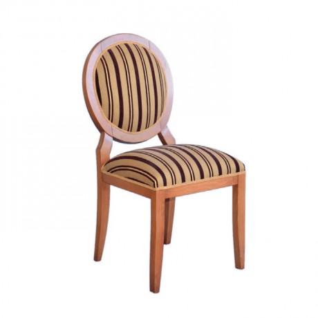 Patterned Velvet Fabric Backrest Classic Round Chair - ksa10