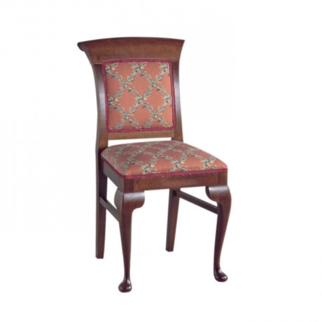 Patterned Classic Fabric Wooden Classic Chair - ksa47