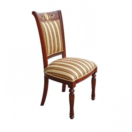 Desenli Klasik Kumaşlı Oymalı Klasik Sandalye - ksa19