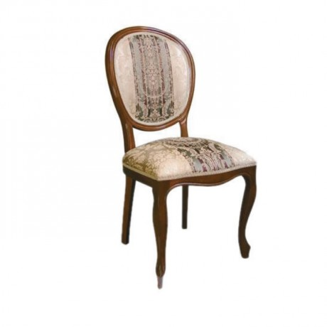 Desenli Kumaşlı Yuvarlak Sırtlı Lukens Sandalye - ksa79