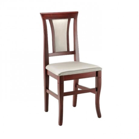 Classic Wooden Chair with Antique Painted White Upholstered - ksa45