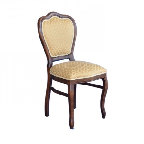 Classic Wooden Chair with Antique Painted Fabric - ksa11