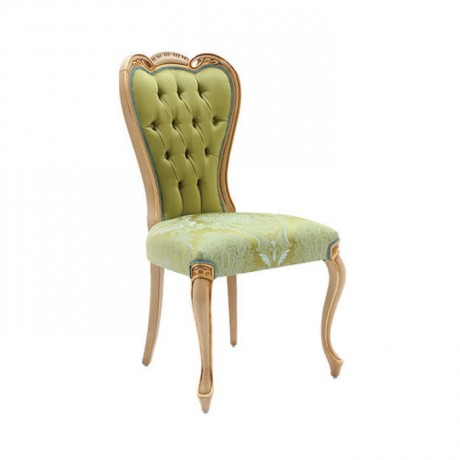 Pistachio Green Fabric Classic Chair with Lukens Leg with - ksa119