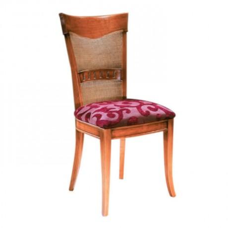 Fuşya Desenli Kumaşlı Klasik Eskitme Sandalye - ksa68