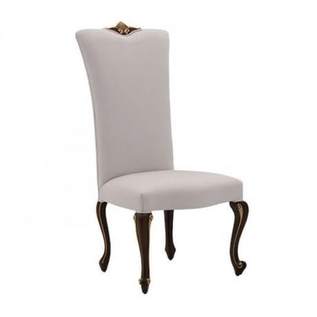 Klasik Lukens Ayaklı Beyaz Döşemeli Sandalye - ksa123