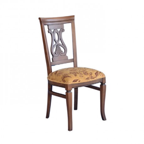 Klasik Oymalı Restoran Sandalyesi - ksa41