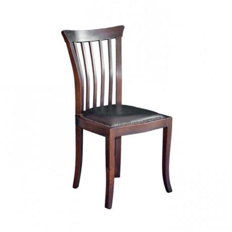 Koyu Çıtalı Ahşap Klasik Sandalye - ksa26