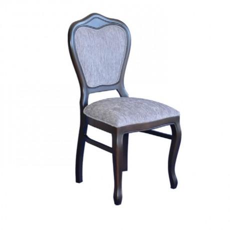 Koyu Eskitme Gri Kumaşlı Klasik Sandalye - ksa17