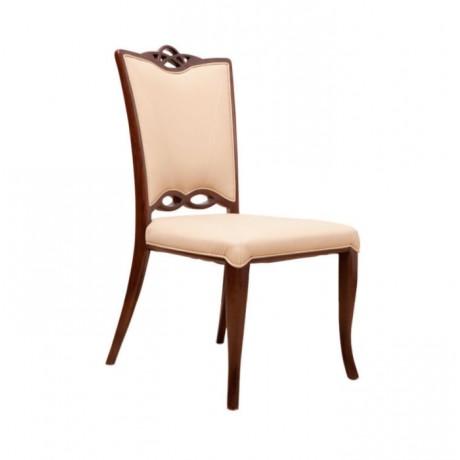 Lukens Ayak Eskitme Boyalı Klasik Derili Sandalye - ksa62