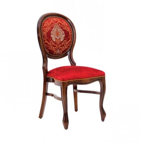 Lukens Ayak Kırmızı Damasklı Klasik Sandalye - ksa128