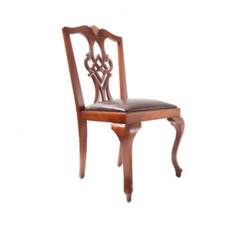 Lukens Ayak Oymalı Gürgen Ağaç Sandalye - ksa56
