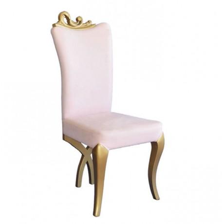 Lukens Ayak Yaldız Boyalı Klasik Sandalye - ksa33
