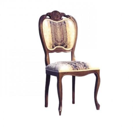 Lukens Ayaklı Koyu Eskitme Klasik Ahşap Sandalye - ksa80
