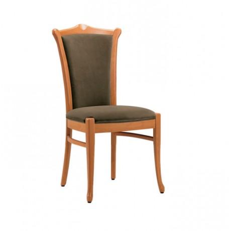 Natural Boyalı Siyah Nubuk Derili Klasik Sandalye - ksa57