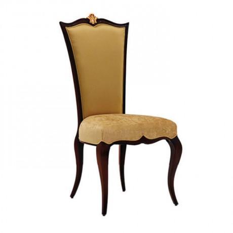 Nubuk Döşemeli Lukens Ayaklı Klasik Ahşap Sandalye