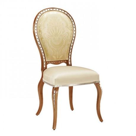Oval Sırtlı Lukens Ayaklı Klasik Ahşap Sandalye - ksa124