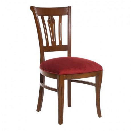Oymalı Ahşap Eskitme Klasik Sandalye - ksa40