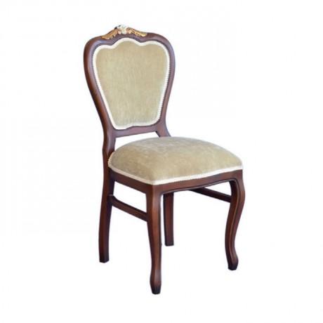 Oymalı Klasik Ahşap Sandalye - ksa12
