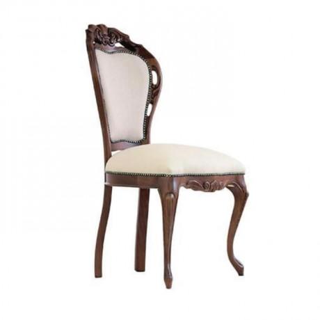 Oymalı Klasik Ahşap Sandalye - ksa84