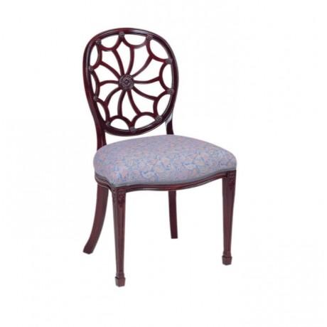 Oymalı Sırtlı Klasik Ahşap Sandalye - ksa88