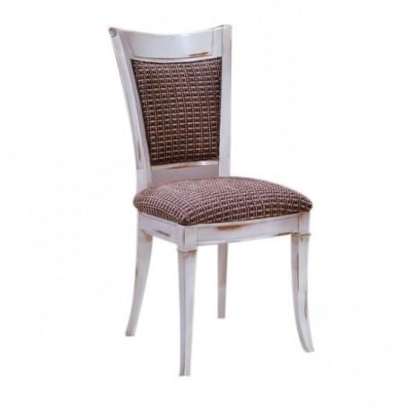 Silme Lake Boyalı Kadife Kumaş Döşemeli Klasik Sandalye - ksa65