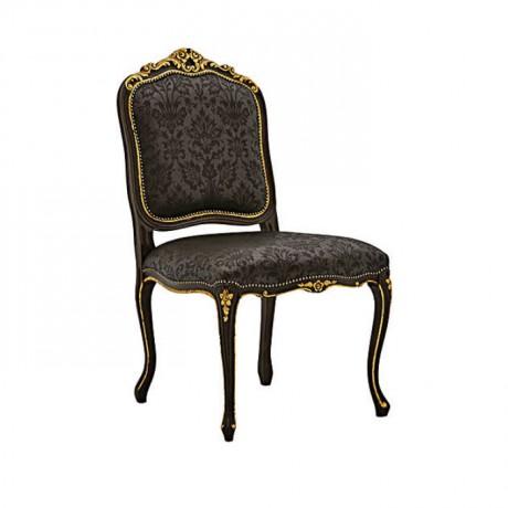 Black Painted Lukens Leg Classic Carving Gilded Chair - ksa121