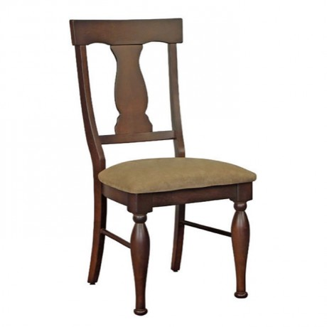 Torna Ayaklı Koyu Eskitme Klasik Sandalye - ksa132