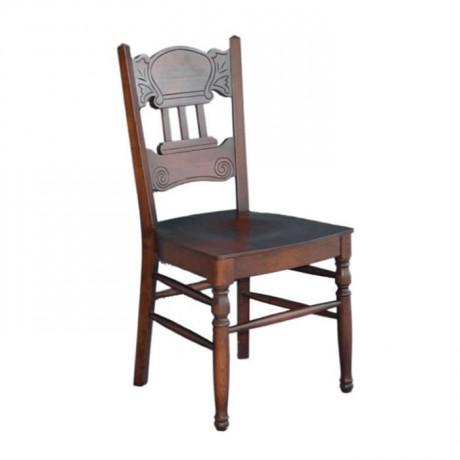 Torna Ayaklı ve Oymalı Gürgen Klasik Sandalye - ksa48