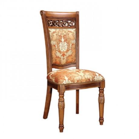Tornalı Ayaklı Klasik Kumaş Döşemeli Klasik Sandalye - ksa95