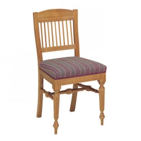 Tornalı Ayaklı Klasik Minderli Sandalye - ksa93