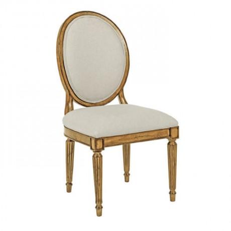 Tornalı Ayaklı Varak Boyalı Klasik Ahşap Sandalye - ksa108