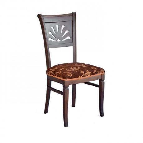 Venge Boyalı Desenli Kumaşlı Klasik Sandalye - ksa42