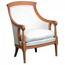 Bergere with White Fabric