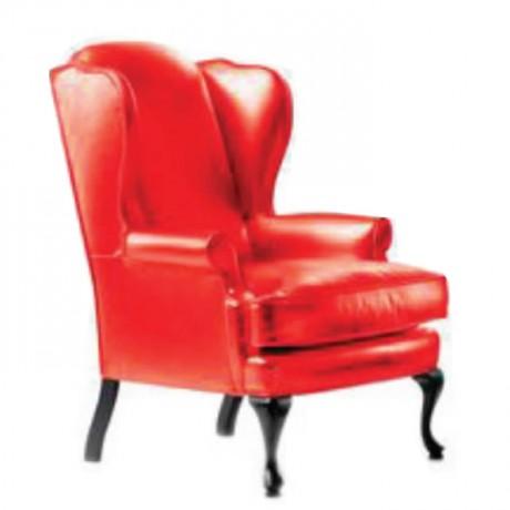 Kırmızı Derili Klasik Berjer - bk111