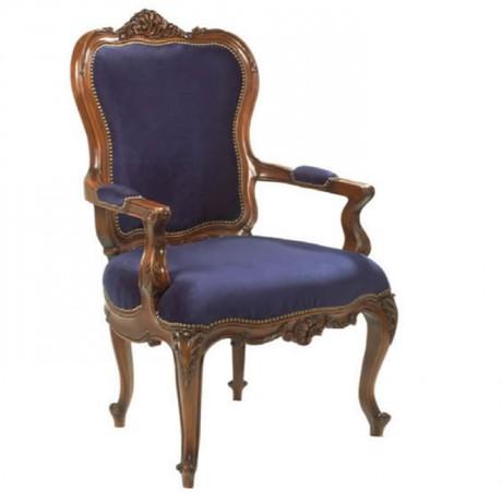 Mavi Kumaşlı Klasik Berjer - bk59