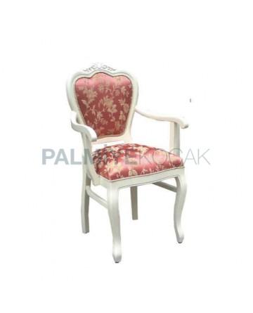 Klasik Beyaz Kollu Sandalye