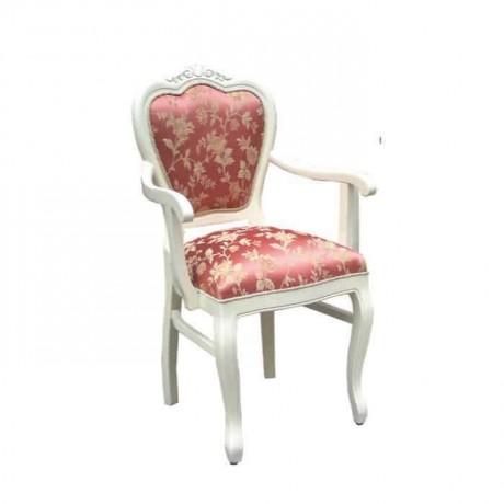Klasik Beyaz Kollu Sandalye - ksak03