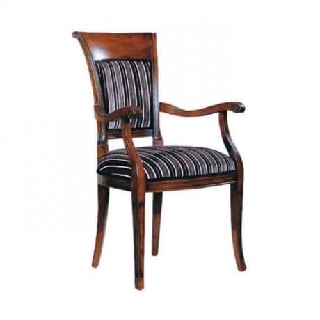Klasik Kollu Ceviz Boyalı Restaurant Sandalyesi - ksak110