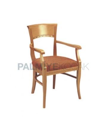 Klasik Kollu Meşe Boyalı Sandalye