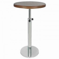 Adjustable Rising and Lowering Stainless Steel Cocktail Table