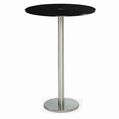 Fume Glass Table Top Stainless Steel Cocktail Table - ktm80