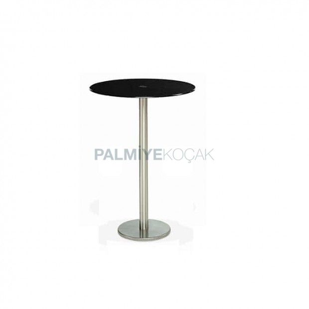 Fume Glass Table Top Stainless Steel Cocktail Table